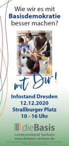 2020 12 12 Infostand Dresden 1