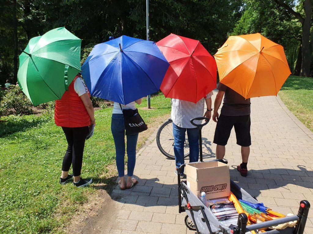 Regenbogenschirme